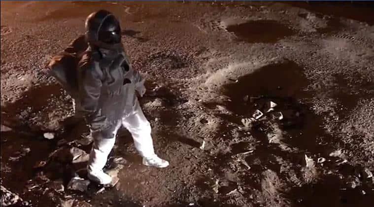 'Moonwalk in Bengaluru': Artist wins hearts with video of astronaut in city's potholes