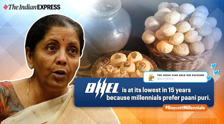 nirmala sitharaman, boycott millennials auto industry slow down, economic slowdown, funny news, india news, viral news, indian express