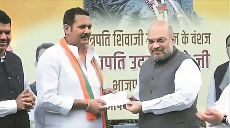 Udayanraje resigns as MP, joins BJP in presence of Fadnavis, Amit Shah