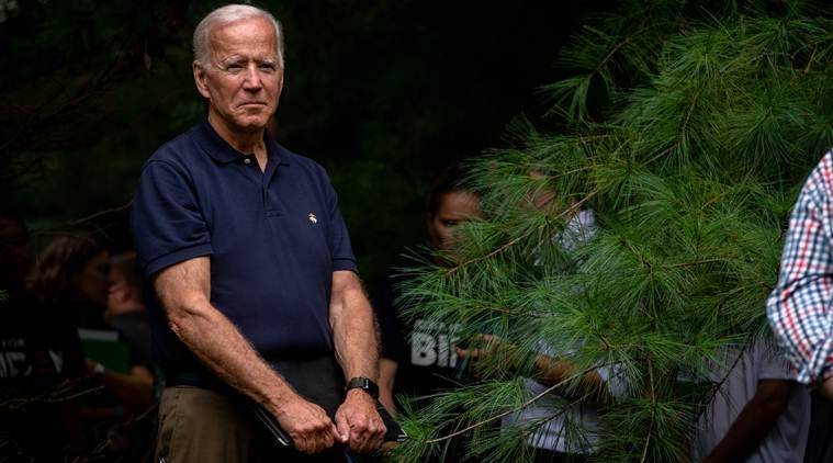 Democratic presidential candidates Joe Biden, Pete Buttigieg, President Donald Trump, world news, indian express