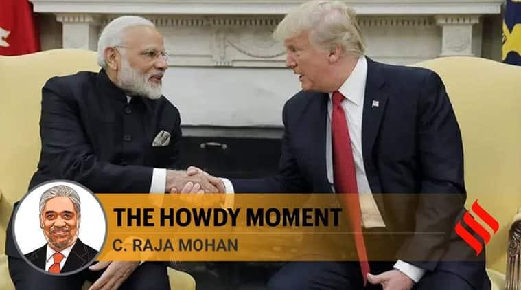 howdy modi event, narendra modi donald trump relations, india us relations, indian express news