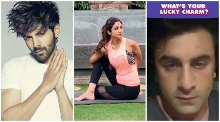 Celebrity social media videos, Kartik Aaryan, Shilpa Shetty, Ranbir Kapoor