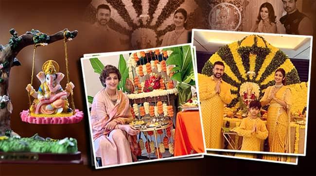 ganesh chaturthi, neena gupta, shilpa, shetty, sonali bendre ganesh chaturthi celebrations, indian express, indian express news