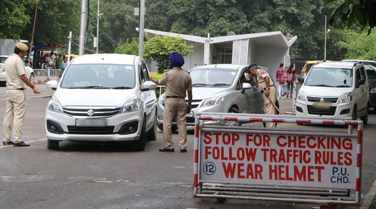 Chandigarh news, Chandigarh traffic fine, Chandigarh traffic police bribe, new traffic penalties, indian express