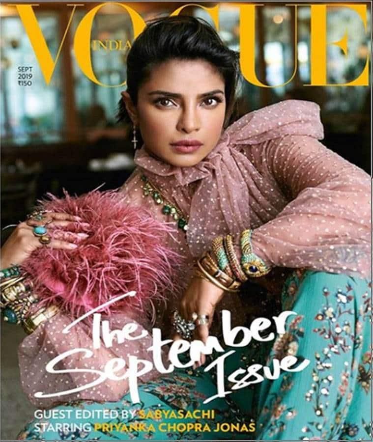 Sabyasachi, Vogue India guest editor, Priyanka Chopra Jonas, Indian Express, Indian Express news