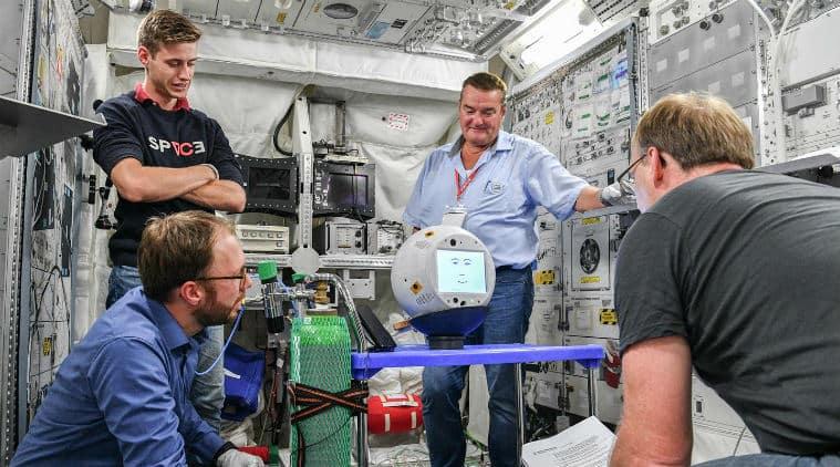 CIMON, CIMON AI-powered astronaut assistant, CIMON back in Earth, CIMON DLR, CIMON german space agency, CIMON ESA