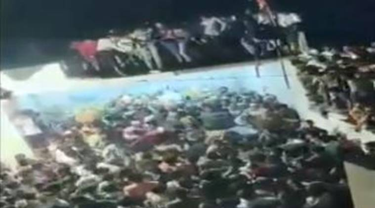 WATCH | Portion of terrace collapses during Muharram procession in Andhra's Kurnool