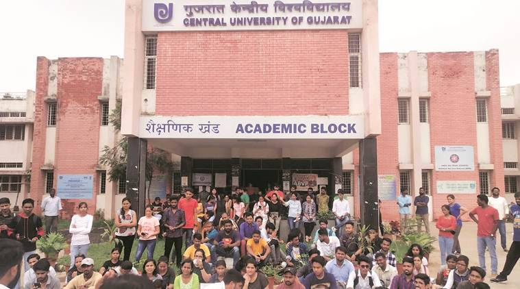 Central University of Gujarat students' council stages protest, demands better hostel facilities