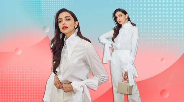 Deepika padukone white ensemble latest photos