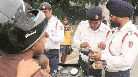 Indore bike fire, Indore man sets bike on fire, Indore traffic rules, Indore Motor Vehicles Act, Motor Vehicles Act, India news, Indian Express