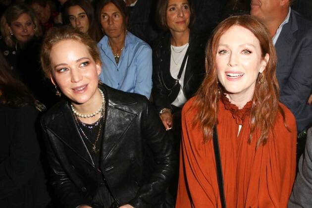 Julianne Moore and Jennifer Lawrence at Dior Spring-Summer 2020 Paris Fashion Week Show