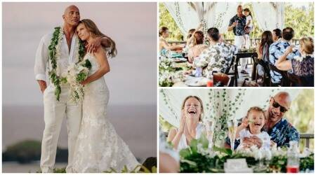 Dwayne Johnson, Dwayne Johnson wedding, Lauren Hashian, Dwayne Johnson wedding photos, Dwayne Johnson Hawaii wedding, Dwayne Johnson Lauren Hashian wedding