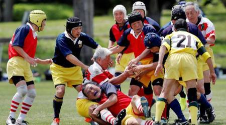 japanese rugby club photos, japan rugby club, fuwaku rugby club, world news, indian express