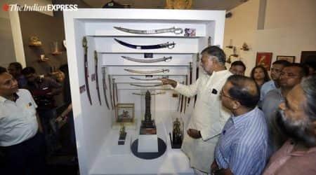 pm narendra modi gift auction, ngma gift auction, ngma delhi, modi gift e-auction, culture minister prahlad patel, namami gange funds, india news, indian express
