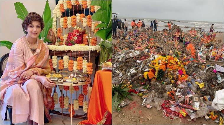 Sonali Bendre raises concern over pollution after Ganesh Visarjan