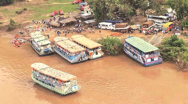 Boat capsizes in Godavari river: No sightings as search on with choppers, over 100 rescuers