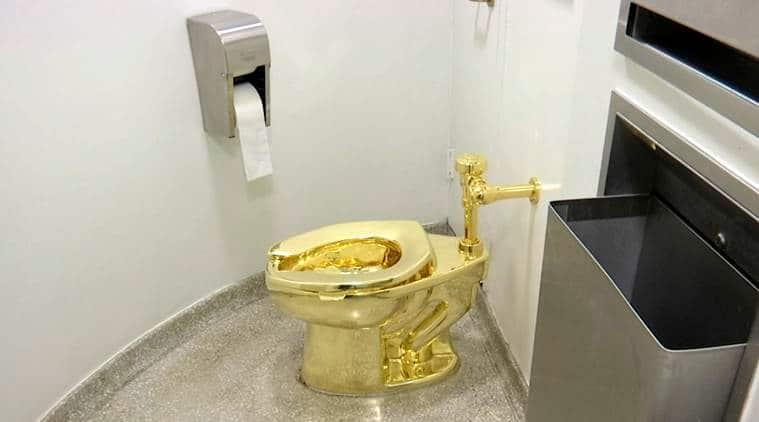 Golden toilet named 'America' stolen from family home of Winston Churchill