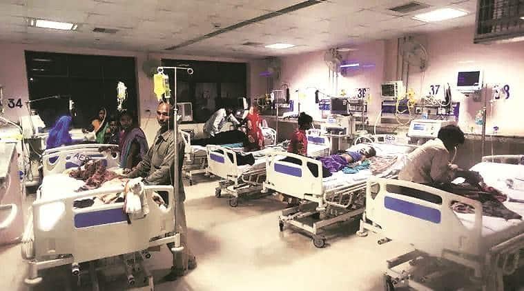 aes death, encephalitis death, aes hospital, indian express