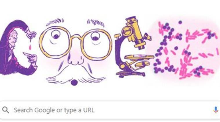 Google Doodle Celebrates 166th Birthday Of Hans Christian Gram