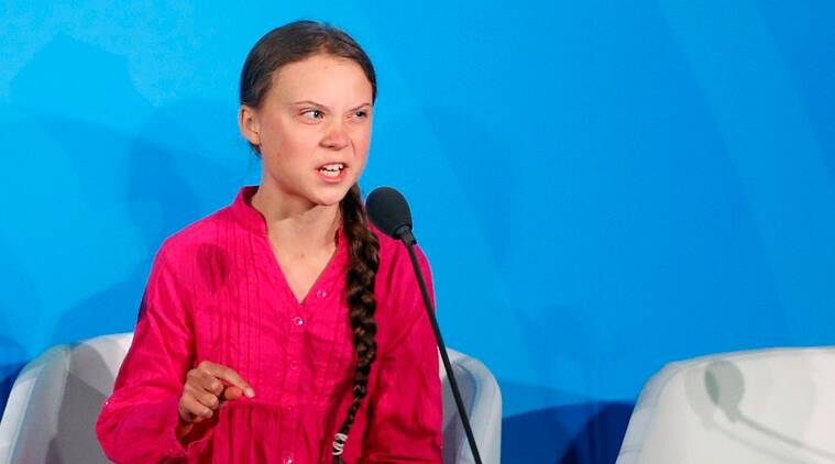 Greta Thunberg UN video, Greta Thunberg UN speech, UN climate summit Greta Thunberg, Greta Thunber news, Indian Express