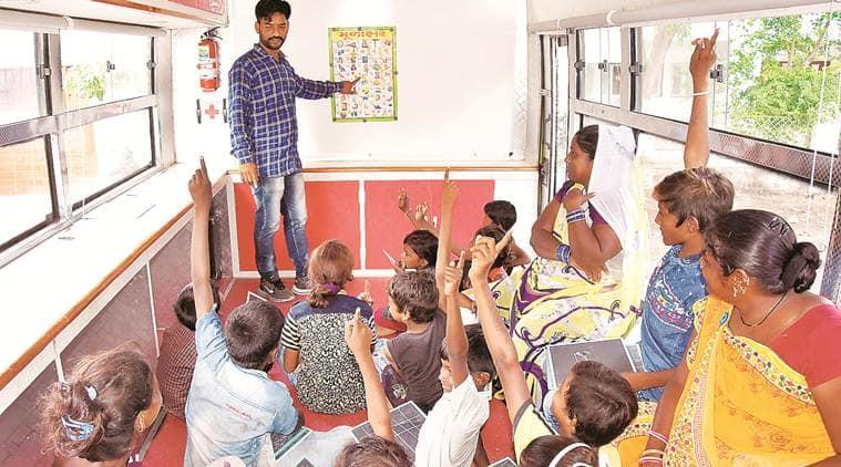 Laptops to projector: In Rajkot, school on wheels WoWs children