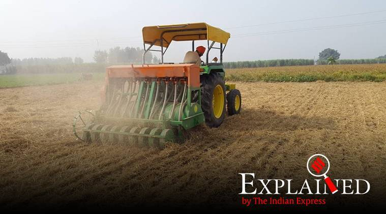 Punjab news, punjab crop burning, pujab stubble burning, punjab wheat crops, happy seeder machines, amarinder singh
