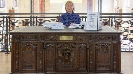 hillary clinton, clinton leaked emails, wikileaks clinton emails, 58th Venice Biennale, Venice Biennale clinton email show, indian express, arts news, viral news, world news