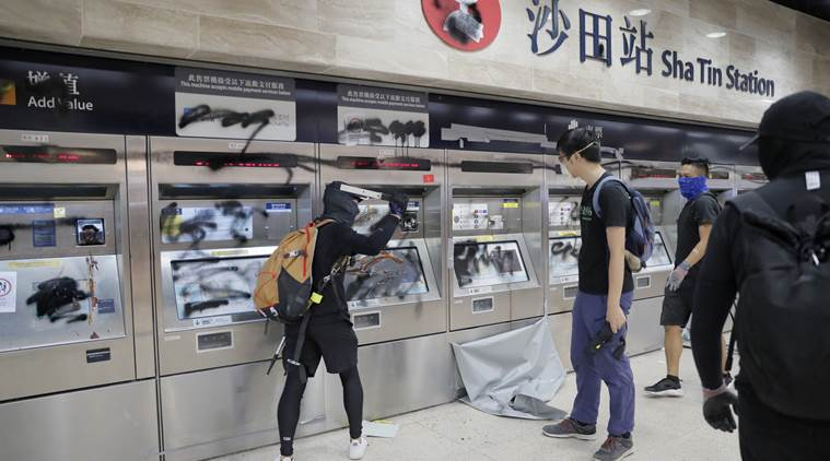Hong Kong rioters/protesters damaging public facilities, For Democracy & Freedom?