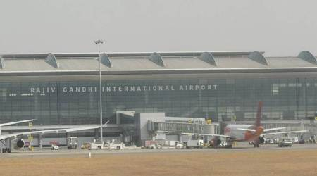 Hyderabad airport, cloud based irrigation system, irrigation system at Hyderabad airport, Hyderabad news, indian express