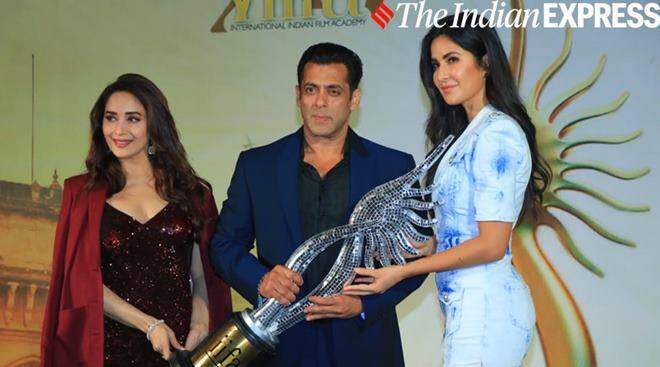 Salman Khan, Katrina Kaif and Madhuri Dixit celebrate IIFA homecoming