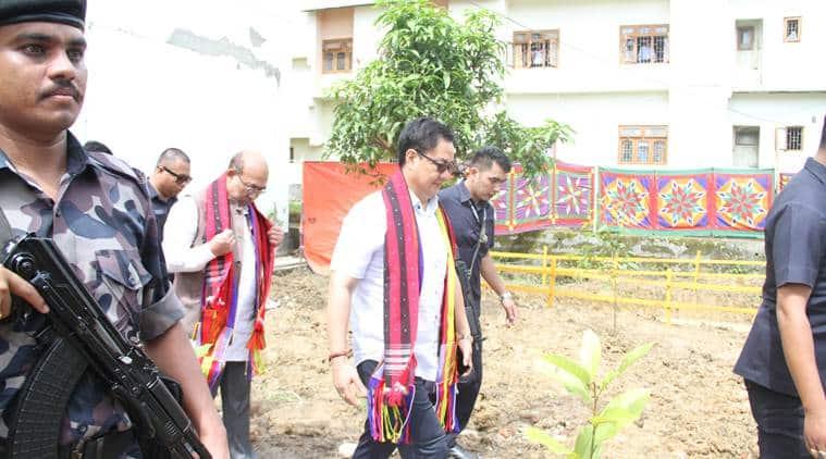 Manipur: Kiren Rijuju in Imphal to review progress of National Sports University
