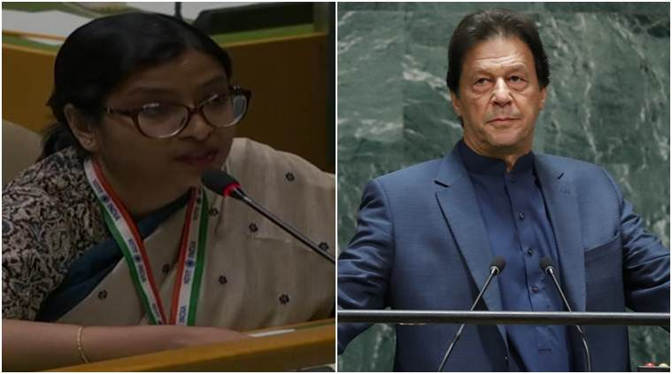India responds to Pakistan, India's reply to Pakistan. India responds to Imran Khan at UNGA, Vidisha Maitra India, Narendra Modi, terrorism, Kashmir, India news