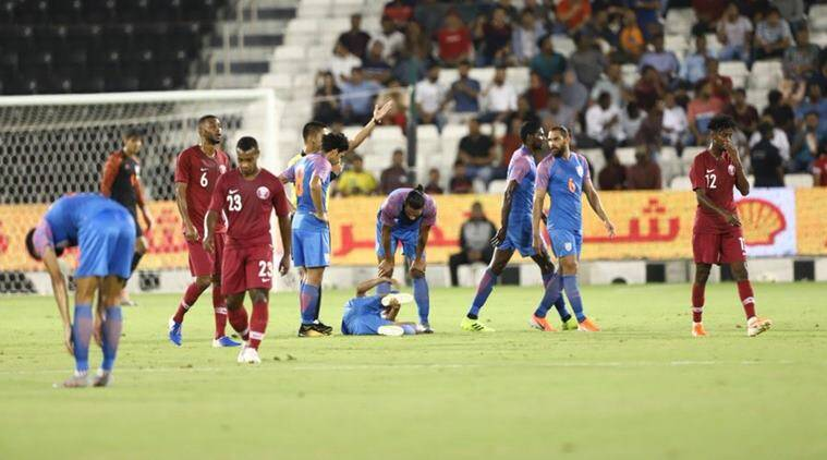 india vs qatar live, india vs qatar live score, football live