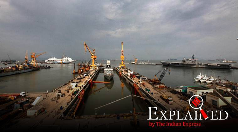indian navy, indian navy dry dock, indian navy aircraft carrier, aircraft carrier dry dock, express explained, indian express