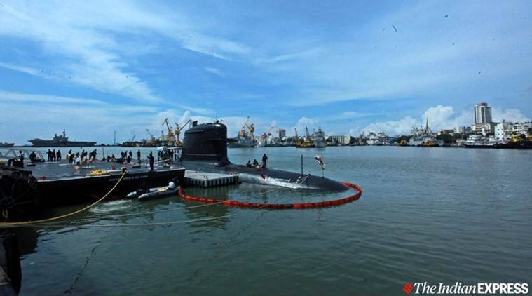 Rajnath Singh inducts second scorpene submarine into Navy