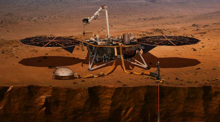 margnetic pulse on mars, mysterious magnetic pulse on mars, water on mars, groundwater on mars, does mars have water, is there water on mars, European Planetary Science Congress EPSC, American Astronomical Society AAS, NASA InSight Mars mission