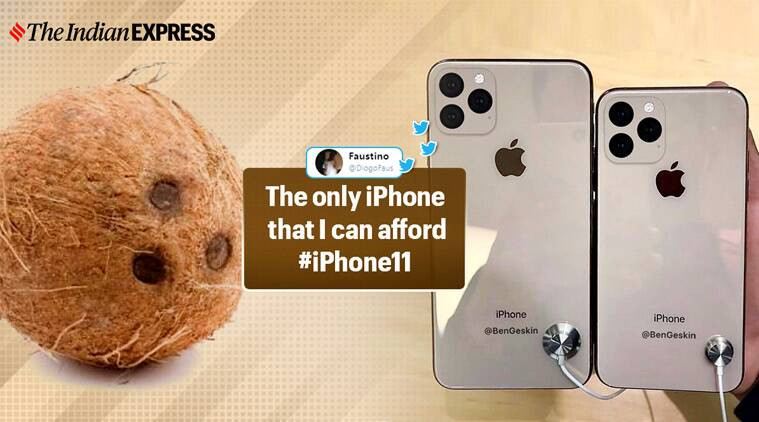 apple event, apple iphone 11, iphone 11 triple cameras, iphone 11 pro cameras, iphone 11 camera jokes, iphone memes, funny news, tech news, indian express