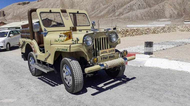 Jeep captured from Pak in 1971 stands as 'war trophy' in army camp near Leh