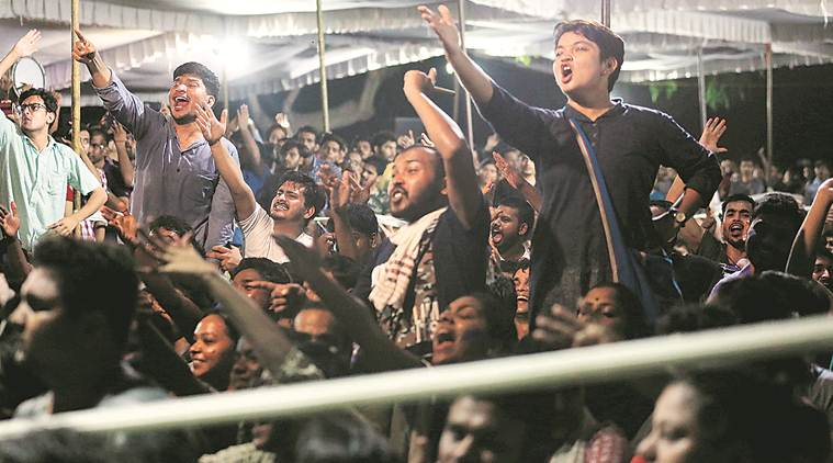 JNU elections, JNUSU, JNU student union elections, JNU presidential debate, amazon fire, indian express, india news, delhi city news