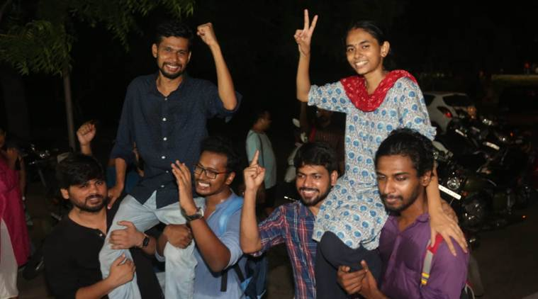 JNU student union poll results