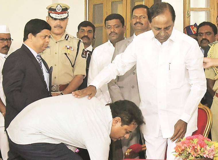 kcr, k chandrashekhar rao, kcr cabinet expansion, telangana cabinet expansion, K T Rama Rao, T Harish Rao, telangana news