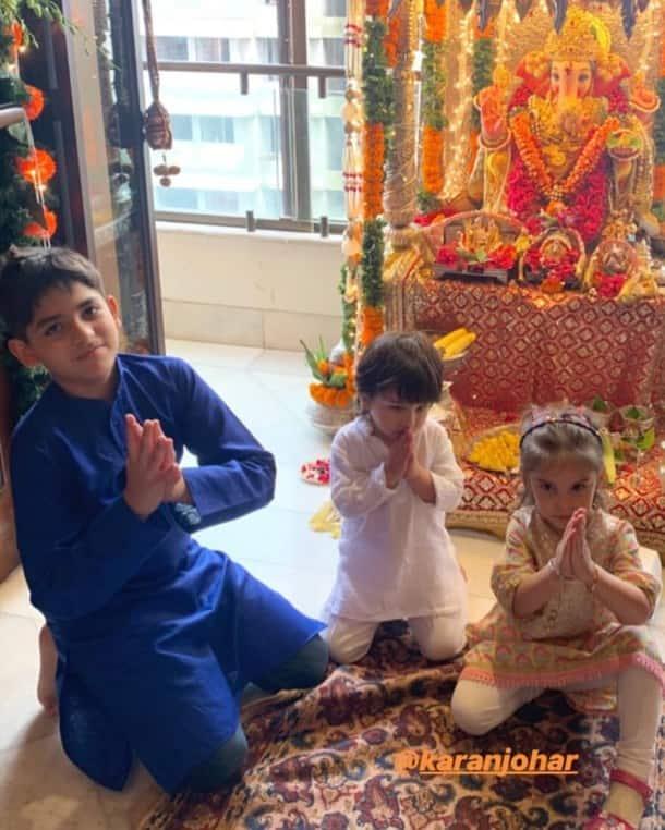 Taimur, Taimur Ali Khan, Taimur ganpati celebrations, yash johar, roohi johar, kareena kapoor, karisma kapoor, Taimur Ali Khan video, Taimur Ali Khan photo