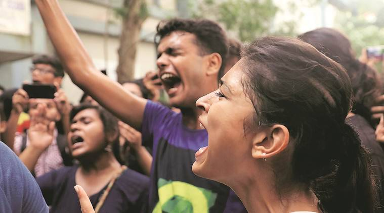 Students manhandle Supriyo: BJP, ABVP, SFI, JU students take out separate protest rallies