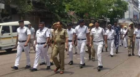 kolkata news, malda man dies in lockup, ainul khan, milki in malda, kolkata police, kolkata outpost on fire, indian express