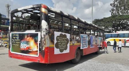 Unique display of 'gutted bus' raises curiosity in Bengaluru