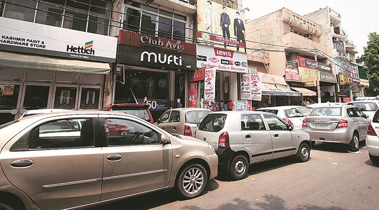 parking plan in delhi, delhi parking model lajpat nagar, parking in gk, parking in green park, delhi city news