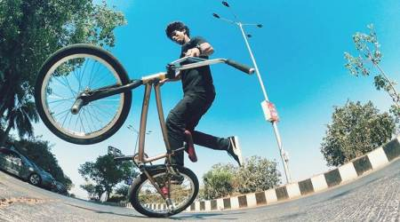 BMX rider, BMX sport, cycle sport, life positive, indianexpress.com, indianexpress, yusuf shaik, good morning wishes, inspiring video, yourswisely videos