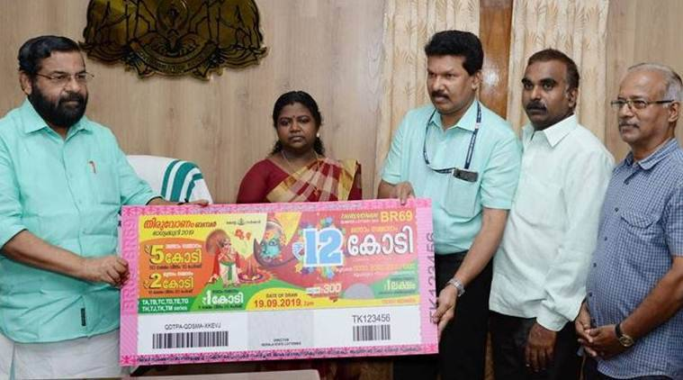 kerala lottery, kerala's biggest-ever lottery jackpot, kerala 12 crore lottery, kerala jackpot, kerala biggest ever lottery, kerala's biggest-ever lottery prize, thiruvonam bumper, kerala news, indian express