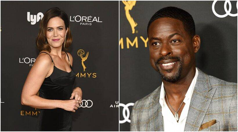 Sterling K Brown, Mandy Moore, Michael Douglas and others attend pre-emmy party