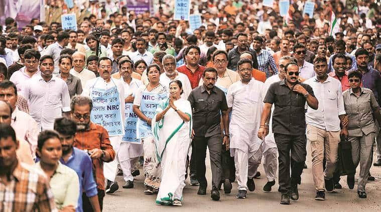 kolkata news, mamata banerjee nrc rally, Mamata Banerjee protest rally against nrc, Mamata Banerjee BJP, NRC in West Bengal